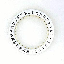 """Datumsring weiß für alle Vostok Werke, für Uhren mit Datum in Pos.""""6:00"""""""