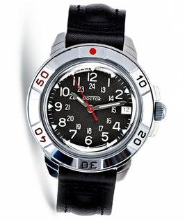 Armbanduhr KOMANDIRSKIE von VOSTOK, Handaufzug, poliert, ø40mm