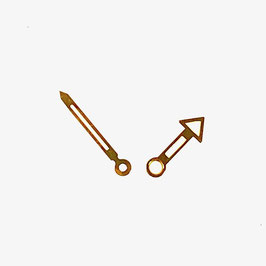 Vergoldete Zeiger für AMPHIBIA Uhren von Vostok