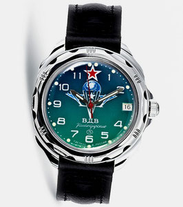 "Russian hand-winding watch KOMANDIRSKIE ""PARACHUTE"" by VOSTOK, polished, ø39mm"