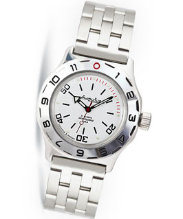 Automatik diver watch AMPHIBIA K-10 by VOSTOK, 200m water proof, stainless steel, polished, ø42mm