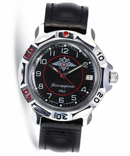 "Russian hand-winding watch KOMANDIRSKIE ""Police Ministry"" by VOSTOK, polished, ø40mm"