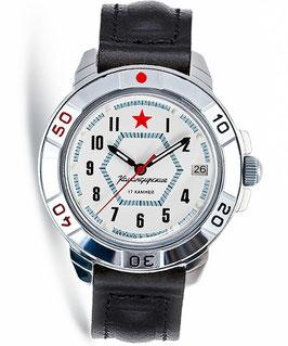 Russian hand-winding watch KOMANDIRSKIE by VOSTOK, polished, ø40mm