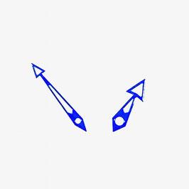 Blaue Zeiger mit SuperLumiNova für AMPHIBIA und KOMANDIRSKIE Uhren von VOSTOK