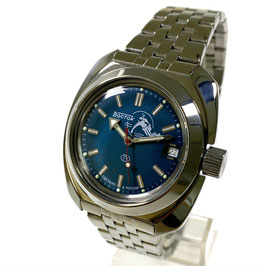 """Russian automatic watch VOSTOK """"AMPHIBIA"""" K-71 with neutral bezel and SCUBA DUDE case back by VOSTOK, 200m water proof, stainless steel, polished, 41x44mm"""
