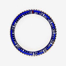 Bezel BAIKAL blue for VOSTOK KOMANDIRSKIE watches, stainless steel, LÜ-INS-31