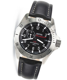 "Russian automatic watch VOSTOK ""KOMANDIRSKIE K-39"" by VOSTOK, stainless steel, brushed, ø46mm"