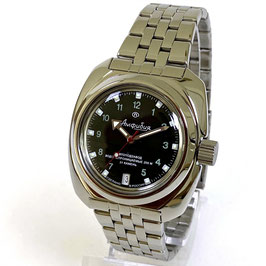 "Automatik watch ""AMPHIBIA"" with neutral bezel and glas case back by Vostok-Watches24, stainless steel, polished, ø41mm"