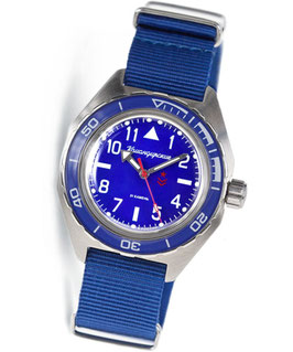 Russian automatic pilots watch VOSTOK KOMANDIRSKIE K-65 by VOSTOK, stainless steel, brushed, ø42mm