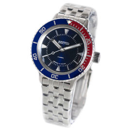 AMPHIBIA automatic watch with sandwich dial and PEPSI bezel by VOSTOK-Watches24, stainless steel, brushed, ø40mm