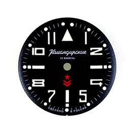 Zifferblatt 747 KOMANDIRSKIE SuperLumiNova nachgelumt - nur für VOSTOK Uhren im Gehäuse 350