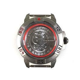 Case 436 for VOSTOK KOMANDIRSKIE hand winding watches, titanium carbonitride plated, ssatined, complete
