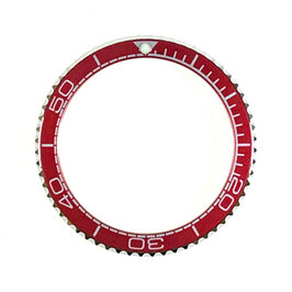 Bezel with red insert for VOSTOK KOMANDIRSKIE watches, stainless steel