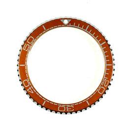 Bezel with orange insert for VOSTOK KOMANDIRSKIE watches, stainless steel, LÜ-INS-13