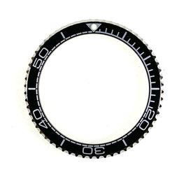 Lünette für VOSTOK AMPHIBIA KOMANDIRSKIE Uhren von VOSTOK, Edelstahl, poliert, schwarz, LÜ-INS-10