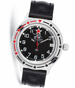 "Russian automatic watch VOSTOK KOMANDIRSKIE ""Tank Commander"" by VOSTOK, polished, ø40mm"