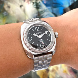 VOSTOK AMPHIBIA automatic watch with sandwich dial with SuperLumiNova and ChronoSwiss bezel by VOSTOK-Watches24, stainless steel, polished, ø41,5mm