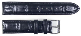 20mm, original black leather strap by VOSTOK, band width 20mm, ARM-LD20-01