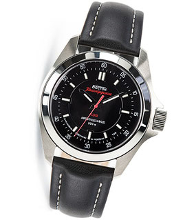 "Russian automatic watch VOSTOK ""KOMANDIRSKIE K-39"" with TRITIUM light by VOSTOK, stainless steel, brushed, ø46mm"