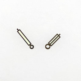 Paddelzeiger New Style für VOSTOK AMPHIBIA Uhren mit einem 24-er Werk, Neusilber, SuperLumiNova Leuchtmasse, PAAR05