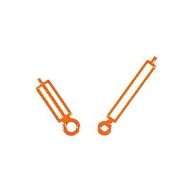 Orangene Paddelzeiger New Style mit SuperLumiNova für AMPHIBIA Uhren von Vostok