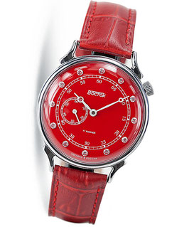 "Russian women's watch ""VOSTOK"" by VOSTOK, chrome plated, polished, ø39mm"