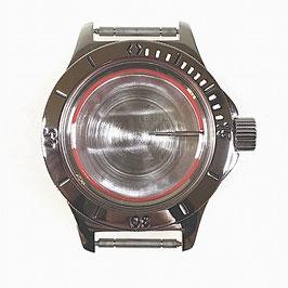 Gehäuse 120 mit Lünette mit weißen Minuten für VOSTOK AMPHIBIA Uhren von VOSTOK, Edelstahl, poliert, komplett