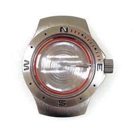 Case 060 for VOSTOK KOMANDIRSKIE watches, Stainless steel, satined, complete