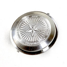 Edelstahlboden RUSSENSTERN für AMPHIBIA Uhren von VOSTOK, Edelstahl, 200m, wasserdicht