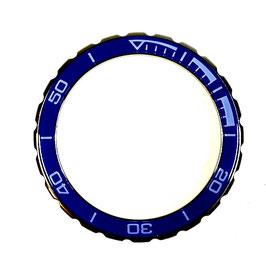 Bezel with blue insert for VOSTOK KOMANDIRSKIE watches, stainless steel