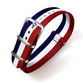 22mm NATO strap for VOSTOK watches, tricolour, NATO14-22mm