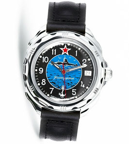 "Russian hand-winding watch KOMANDIRSKIE ""SUMARINE COMMANDER"" by VOSTOK, polished, ø39mm"