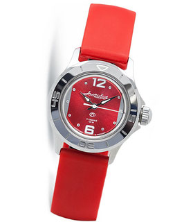 "Russian women's watch ""AMPHIBIA"" by VOSTOK, chrome plated, polished, ø34mm"
