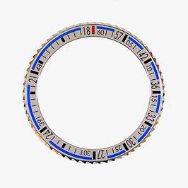Lünette BAIKAL silber für VOSTOK AMPHIBIA KOMANDIRSKIE Uhren von VOSTOK, Edelstahl, poliert, silbern, LÜ-INS-30