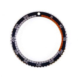 Lünette für VOSTOK AMPHIBIA KOMANDIRSKIE Uhren von VOSTOK, Edelstahl, poliert, schwarz / orange