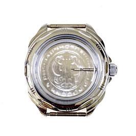 Gehäuse 211 für VOSTOK KOMANDIRSKIE Uhren von VOSTOK, verchromt, poliert, komplett