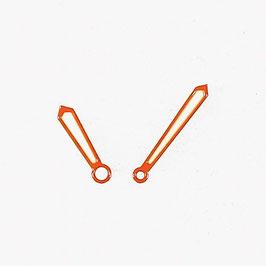 Orangene Schwertzeiger 1 mit SuperLumiNova für AMPHIBIA und KOMANDIRSKIE Uhren von Vostok