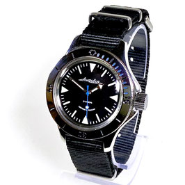 """Russian Automatik diver watch """"AMPHIBIA K-12""""  with SuperLumiNova Sandwich dial and Killerwal case back by VOSTOK-Watches24, 200m water proof, stainless steel, polished, ø40mm"""