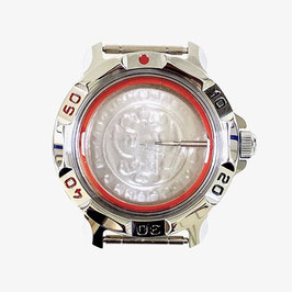 Case 811 for VOSTOK KOMANDIRSKIE hand winding watches, chrome plated, polished, complete