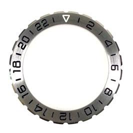 Solid 24hr bezel for Russian VOSTOK KOMANDIRSKIE watches in case K-65, stainless steel