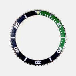 Bezel with black /green insert for VOSTOK KOMANDIRSKIE watches, stainless steel, ø40mm