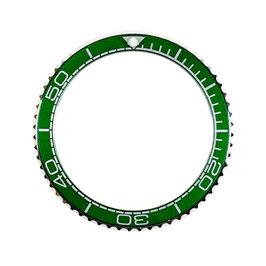 Bezel with green insert for VOSTOK KOMANDIRSKIE watches, stainless steel, LÜ-INS-12