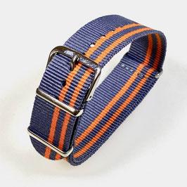 18mm NATO strap for VOSTOK watches, grey orange