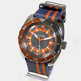 """""""AMPHIBIA"""" mit passender Lünette und NARTO - Armband von Vostok-Watches24, Edelstahl, poliert, ø41mm"""
