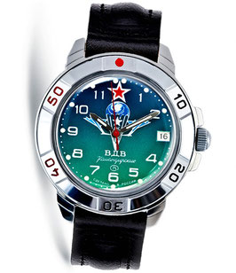"Russian hand-winding watch KOMANDIRSKIE ""PARACHUTE"" by VOSTOK, polished, ø40mm"