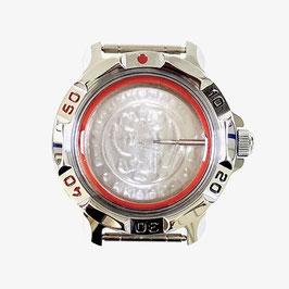 Gehäuse 811 für VOSTOK KOMANDIRSKIE Uhren von VOSTOK, verchromt, poliert, komplett