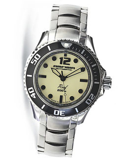 """Automatik wrist watch """"AMFIBIA REEF"""" by VOSTOK, 200m water proof, stainless steel, polished, ø42mm"""
