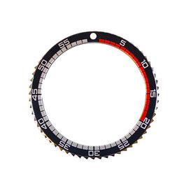 Lünette für VOSTOK AMPHIBIA KOMANDIRSKIE Uhren von VOSTOK, Edelstahl, poliert, schwarz / rot