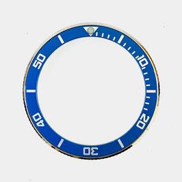 Bezel with blue insert for VOSTOK KOMANDIRSKIE watches, stainless steel, LÜ-INS-62