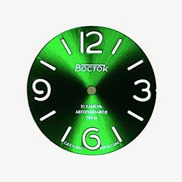 Dial 458 -1 VOSTOK AMPHIBIA sandwich sunburst green SuperLumiNova